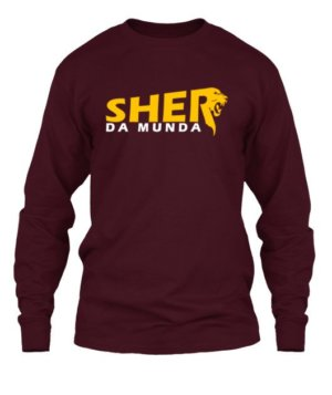 Sher da Munda, Men's Long Sleeves T-shirt