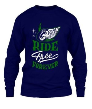 Ride Free Forever, Men's Long Sleeves T-shirt