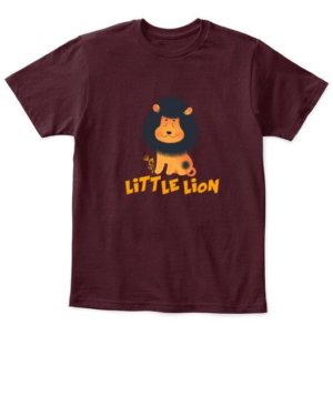 Little Lion, Kid's Unisex Round Neck T-shirt