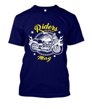 Riders are born in May, Men's Round T-shirt