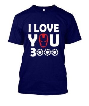 I Love you 3000 Ironman, Men's Round T-shirt