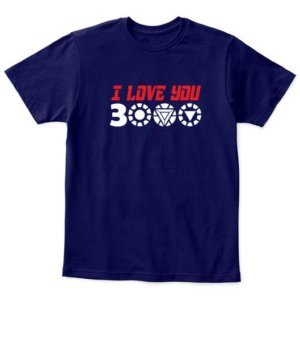 I love you 3000 IRON MAN, Men's Round T-shirt