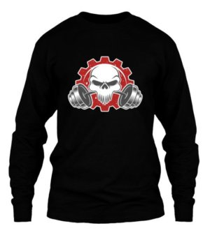 Skull, Men's Long Sleeves T-shirt