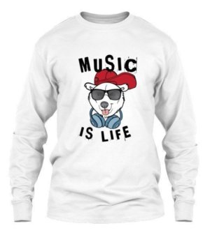 Music is life, Men's Long Sleeves T-shirt