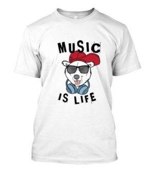 Music is life, Men's Round T-shirt