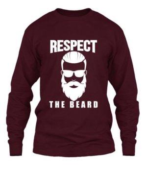 Respect the beard, Men's Long Sleeves T-shirt