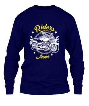 Riders are born in June, Men's Long Sleeves T-shirt