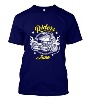 Riders are born in June, Men's Round T-shirt
