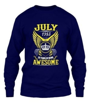 July 1983, 35 Years Of Being Awesome, Men's Long Sleeves T-shirt