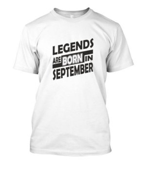Legends are born in September, Men's Round T-shirt