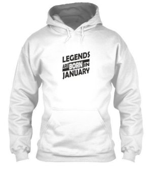 Legends are born in January, Men's Hoodies