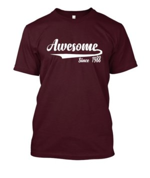 Awesome since 1988, Men's Round T-shirt