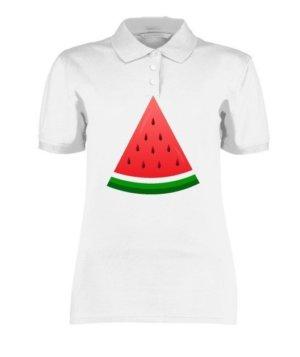 watermelon, Women's Polo Neck T-shirt