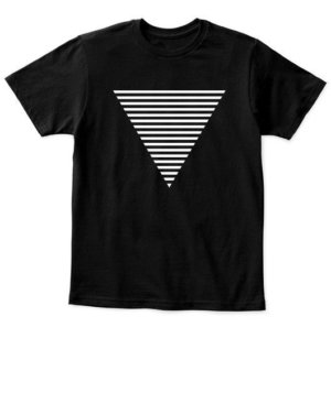 Triangle, Kid's Unisex Round Neck T-shirt