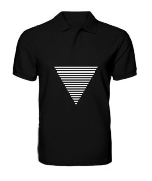 Triangle, Men's Polo Neck T-shirt