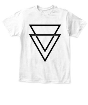 double triangles, Kid's Unisex Round Neck T-shirt