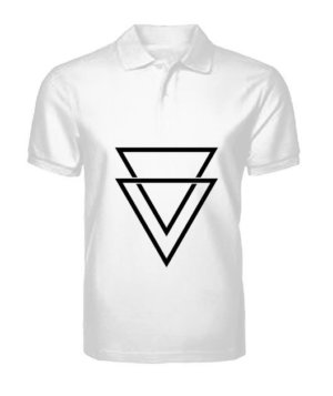 double triangles, Men's Polo Neck T-shirt