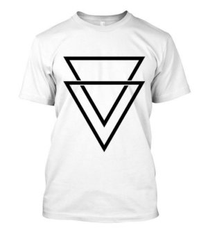 double triangles, Men's Round T-shirt