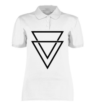 double triangles, Women's Polo Neck T-shirt