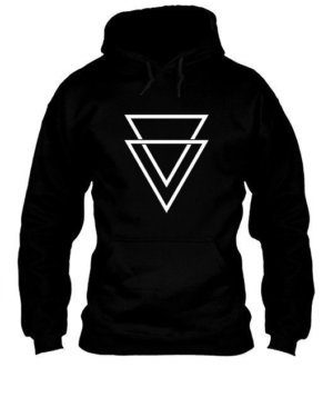 double triangles, Men's Hoodies