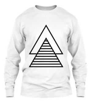 double borders triangle, Men's Long Sleeves T-shirt