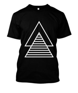 double borders triangle, Men's Round T-shirt