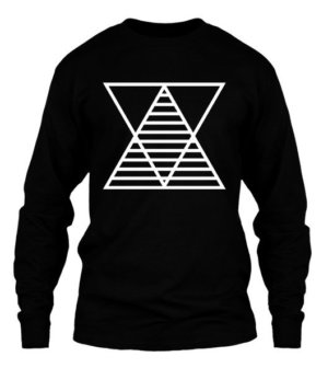 minimal triangle, Men's Long Sleeves T-shirt