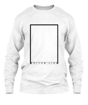 bottom line, Men's Long Sleeves T-shirt
