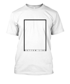 bottom line, Men's Round T-shirt