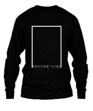 bottom line , Men's Long Sleeves T-shirt