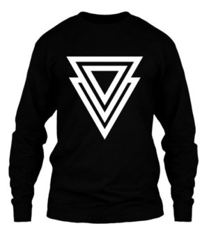 3d triangle, Men's Long Sleeves T-shirt