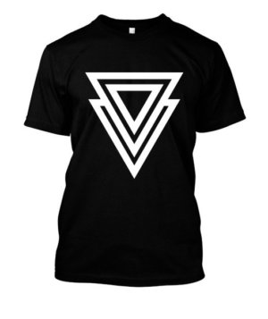 3d triangle, Men's Round T-shirt