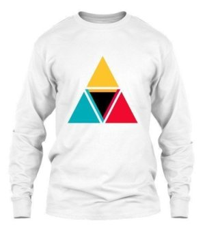 colorful triangles, Men's Long Sleeves T-shirt