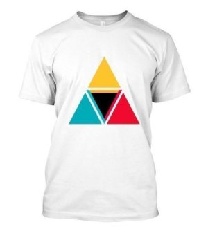 colorful triangles, Men's Round T-shirt