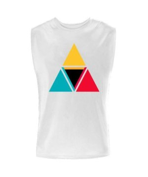 colorful triangles, Men's Sleeveless T-shirt