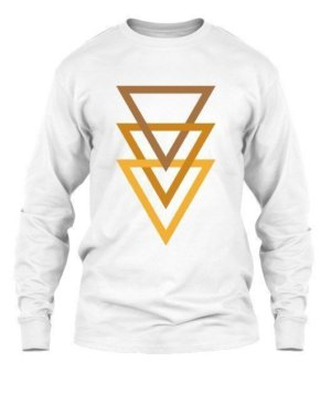 triangle minimal, Men's Long Sleeves T-shirt