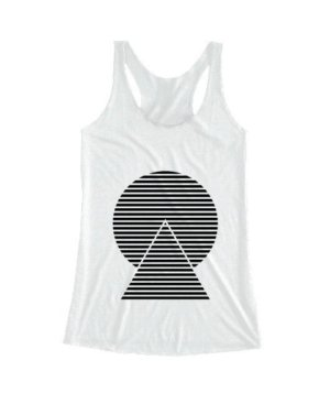 monochrome striped, Women's Tank Top