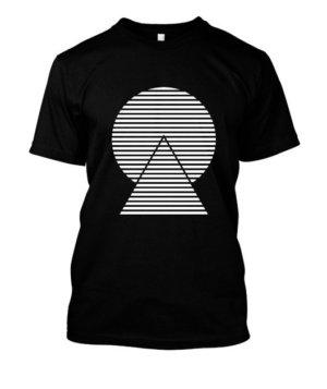 monochrome striped, Men's Round T-shirt