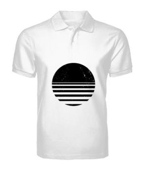 sliced circle, Men's Polo Neck T-shirt