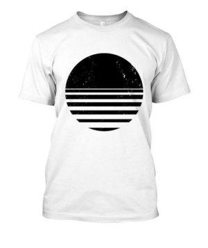 sliced circle, Men's Round T-shirt