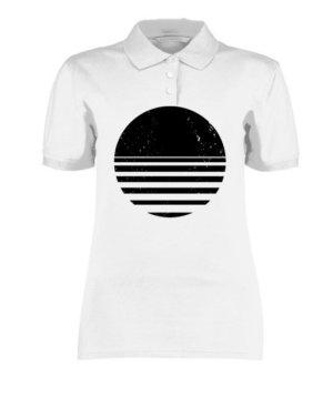 sliced circle, Women's Polo Neck T-shirt