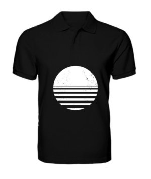 sliced circle , Men's Polo Neck T-shirt
