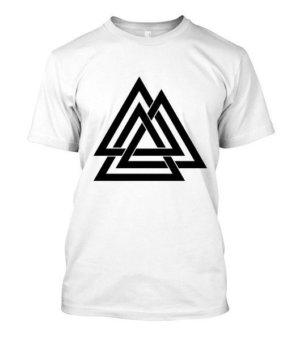 three triangle, Men's Round T-shirt