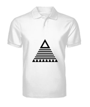 triangle tribal, Men's Polo Neck T-shirt