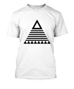 triangle tribal, Men's Round T-shirt
