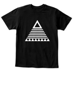 triangle tribal, Kid's Unisex Round Neck T-shirt