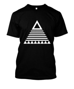 triangle tribal, Men's Round T-shirt