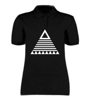 triangle tribal, Women's Polo Neck T-shirt