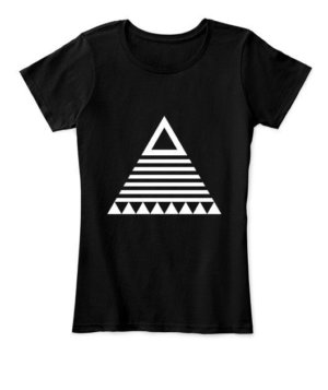 triangle tribal, Women's Round Neck T-shirt