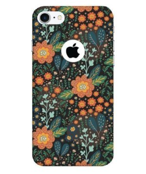 Orange Floral pattern, Phone Cases